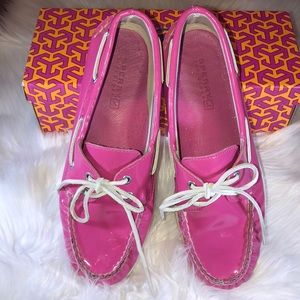 Sperry Top-Siders Hot Pink Patent Leather Size 7.5
